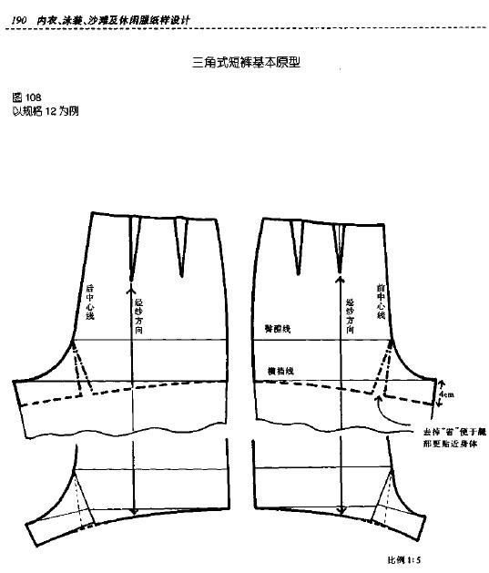 内衣纸样结构图